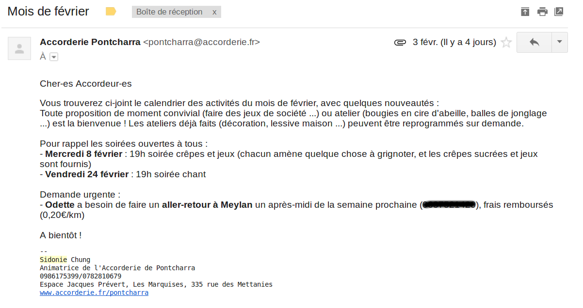 mail accorderie